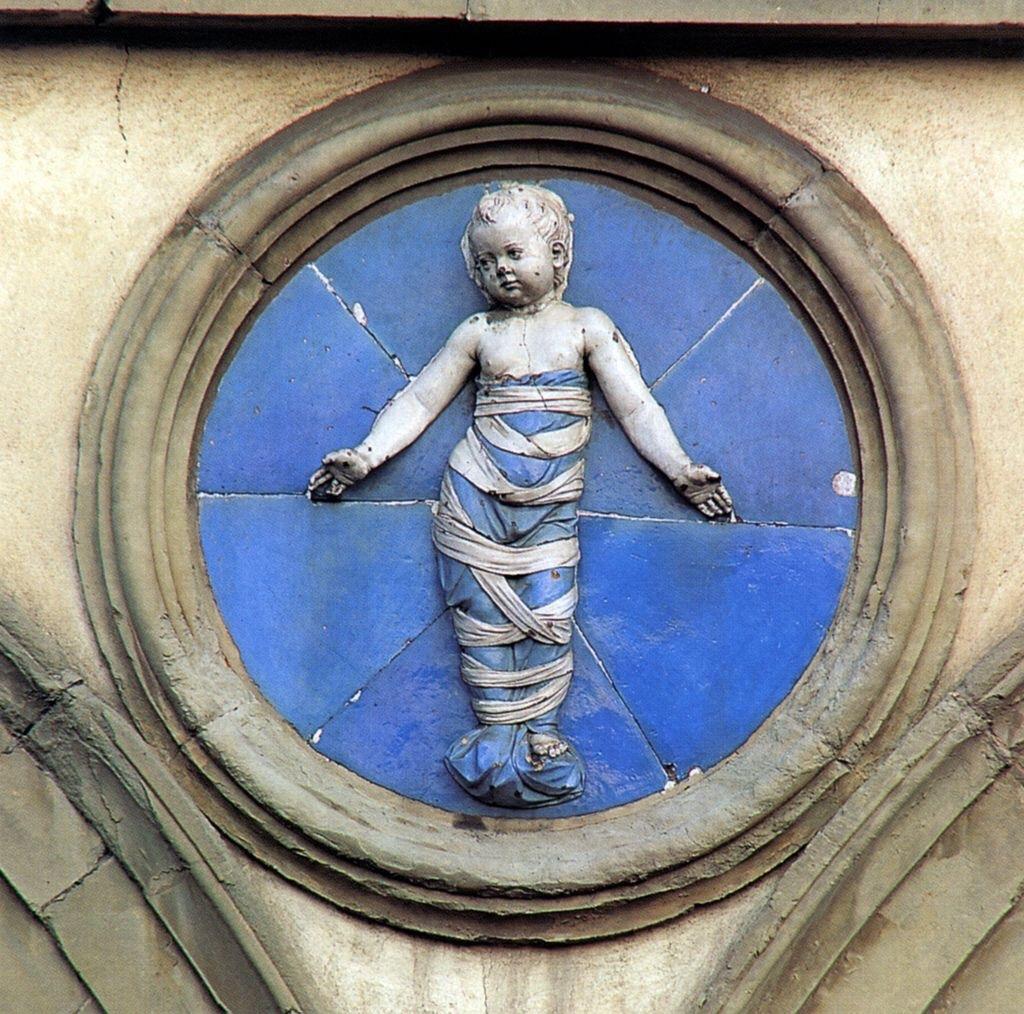 """Andrea della Robbia, Decoration of the """"Spedale degli Innocenti"""
